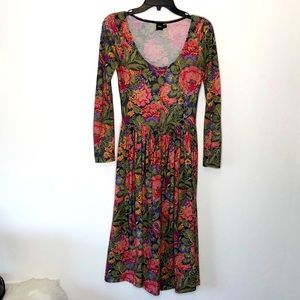 ASOS floral long sleeve dress size Small